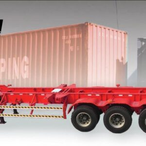 HPSEN SKELETON CONTAINER SEMI TRAILER