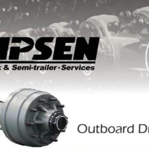 HPSEN SEMI TRAILER AXLE (Outboard Drum Axle)