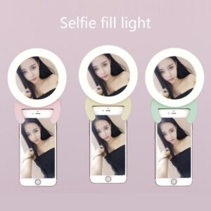 USB Charge Selfie Portable Flash Led Camera Phone Ring Light