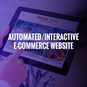 AUTOMATED/INTERACTIVE E-COMMERCE WEBSITE